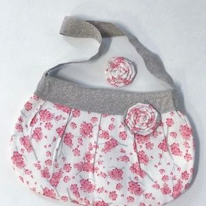 Handmade Child's Purse and Matching Hair Clip